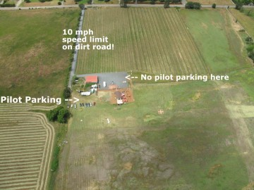 Longsword Vineyard LZ with pilot parking area shown.