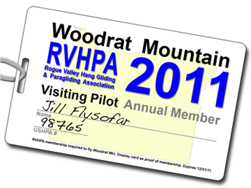 Sample 2011 Membership Card