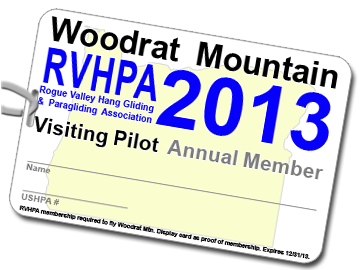Sample 2013 Membership Card