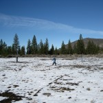 Seeding Grass in The Whaleback LZ, late Nov. 2009.