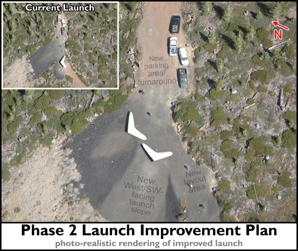 Phase 2 Whaleback Site Improvement Plan: Launch. A photo-realistic rendering of improved launch.