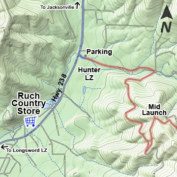 Ruch Country Store Map