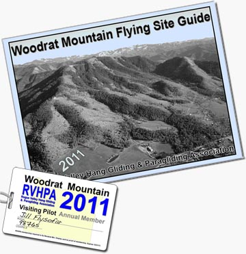 When you join RVHPA, you get a 2011 Membership Card that is your Woodrat Mountain site pass and a useful site guide full of information and maps.